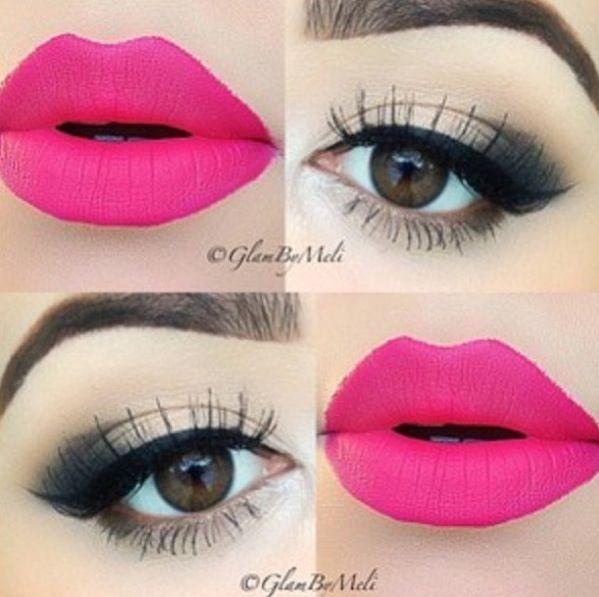 Simple makeup. Minus the lipstick