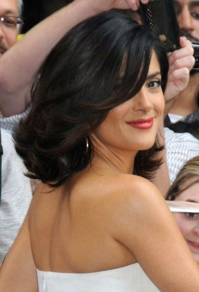 Top+10+Celebrity+Shoulder-Length+Hairstyles+of+2010: Shoulder Length Hairstyles, Best Hairstyles, Salma Hayek, Shorts Hair, Celebrity Hairstyles, Tops 10, Medium Length Hair, Hair Cut, Hair Style