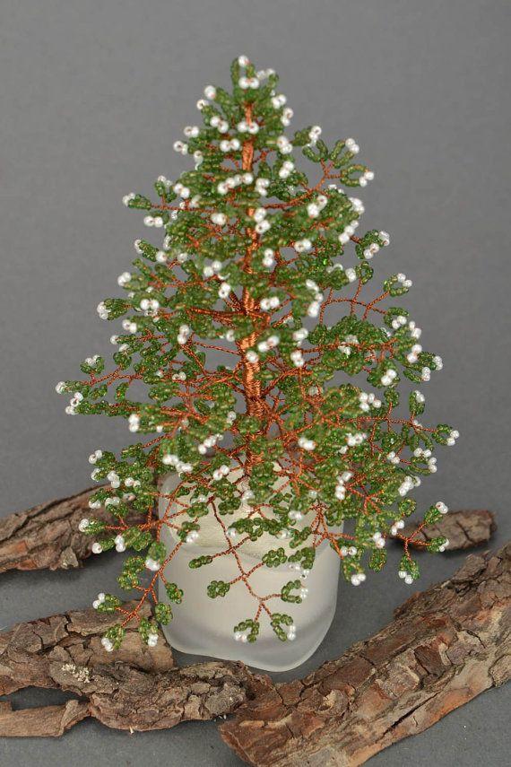 Beaded Topiary Christmas Tree