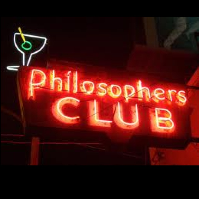 Philosopher's Club neon sign