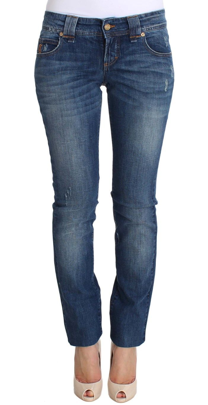 Blue Wash Slim Fit Cotton Stretch Denim Jeans