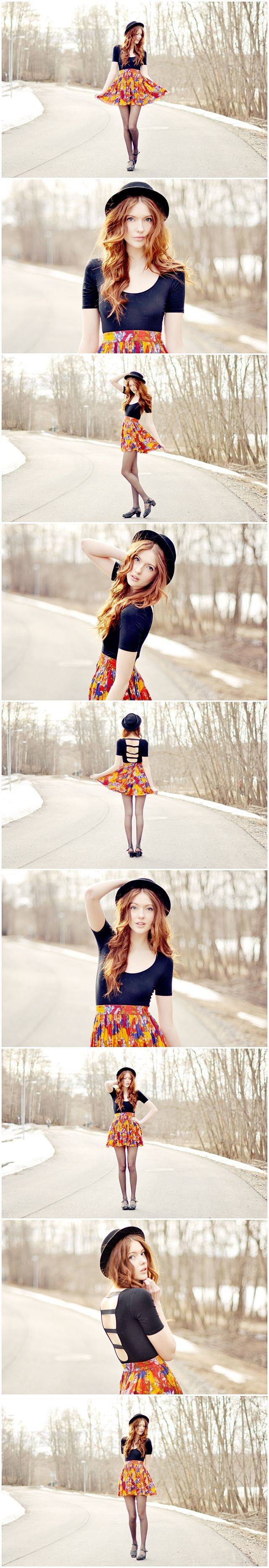 Fantastic series! Fashion inspired senior girl photography poses posing