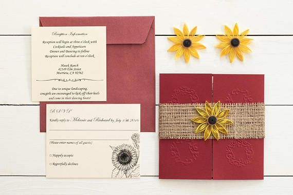 Cheap Sunflower Wedding Invitations: 49 Best Images About Sunflower Wedding Invitations On