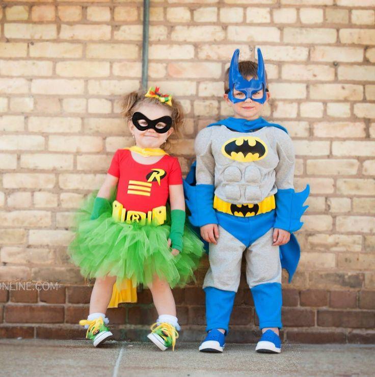 sibling halloween costume ideas super hero batman and robin - Halloween Ideas For Siblings
