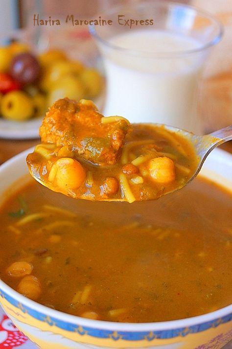 Harira marocaine express (soupe Ramadan 2017) Harira marocaine express (soupe Ramadan). Je vous propose aujourd'hui la version facile et rapide de la soupe