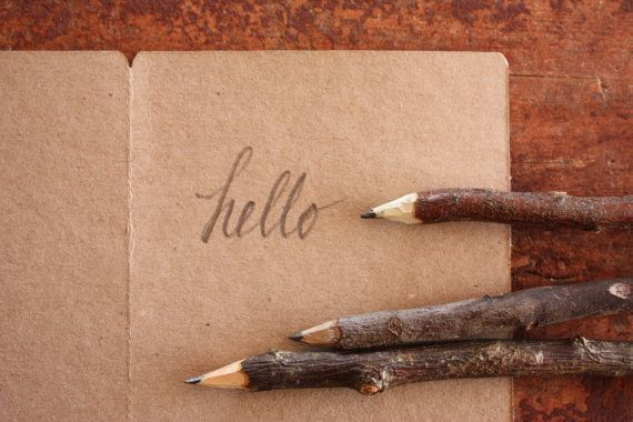 Handmade Twig Pencil  Rustic Wooden Pencil  Made by trees4thewood