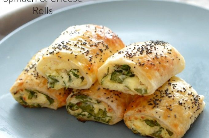Thermomix Spinach and Cheese Rolls