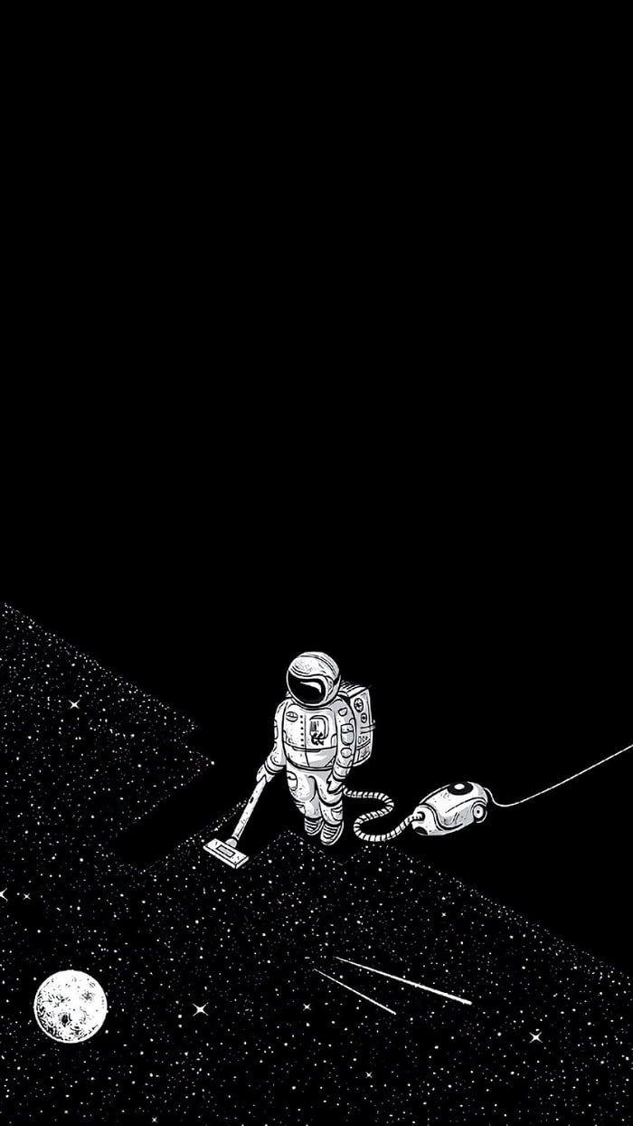 A Guy Vacuuming Space Iphone Wallpaper Tumblr Hipster Hipster Wallpaper Astronaut Wallpaper