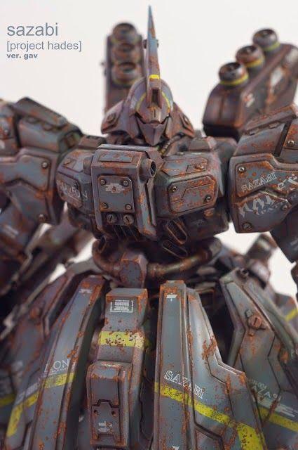 "Custom Build: MG 1/100 MSN-04 Sazabi ""Ver. Gav"" [Project Hades] - Gundam Kits Collection News and Reviews"