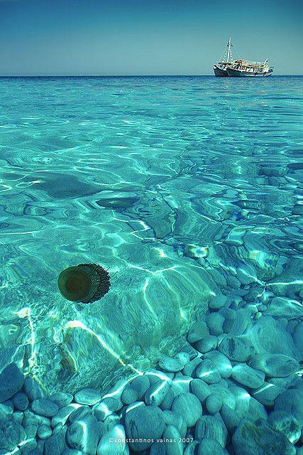Crystal sea, Skiathos Greece