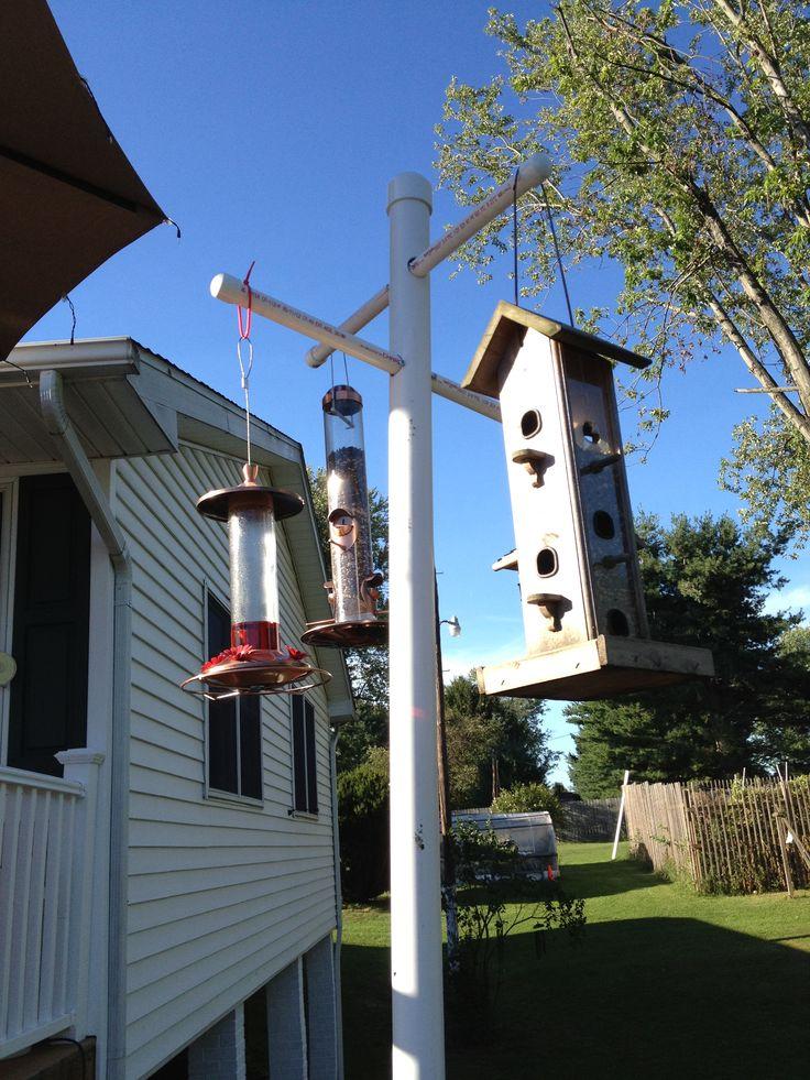 Squirrel proof, cat proof bird feeder stand.