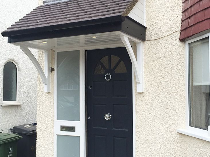 Door canopy installation in Barnet, north London |