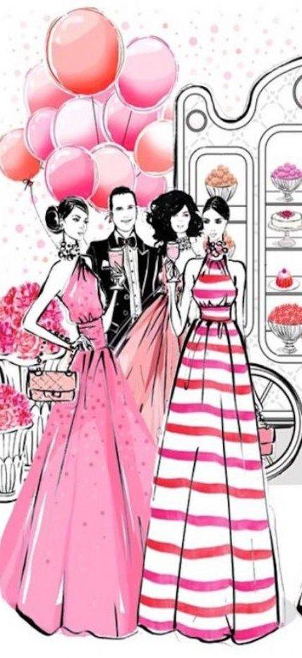 28+ Trendy dress fashion sketch megan hess – Upcycling Fashion Ideas