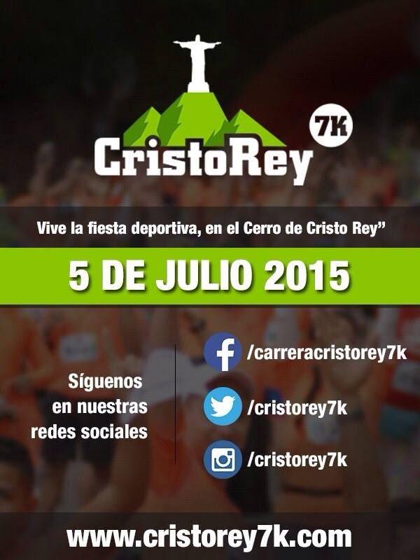 Carrera Atlética de 7 kms en ascenso , saliendo del antiguo Seguro Social de Bellavista llegando a Cristo Rey