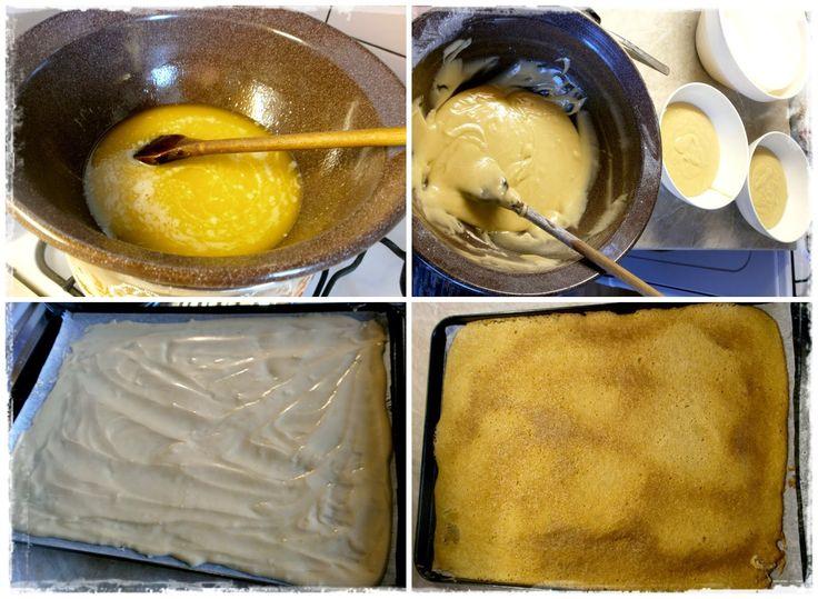 Vysokoškolák v kuchyni: Marlenka (bez váľania plátov) Na medové cesto potrebujeme: 300 g práškového cukru 400 g hladkej múky 250 g masla 1 PL sódy bikarbóny 3 vajcia 3 PL medu mlieko podľa potreby (cesto však bolo dostatočne riedke a my sme ho priliať nepotrebovali) Na plnku si nachystáme:  375 g masla (1,5 kocky) * 600 g salka (1,5 plechovky) *  Na dokončenie: 1 hrsť vlašských orechov (mletých, ale môžu byť aj sekané) 1 kakaové pikao