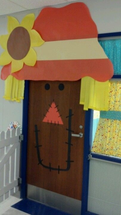 Scarecrow classroom door
