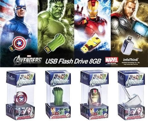 The Avengers USB Flash Drives | NextGadgets.net | Cool Gadgets, New Gadgets, Latest Gadgets, Future Gadgets, Electronic Gadgets, Hi Tech Gadgets News