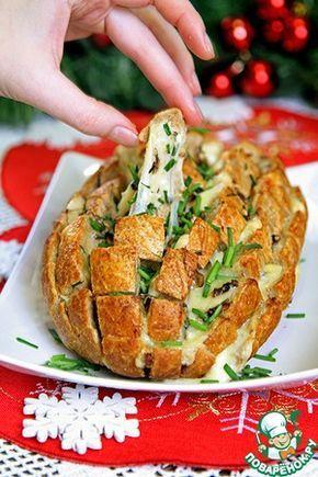 Сырный хлеб с грибами