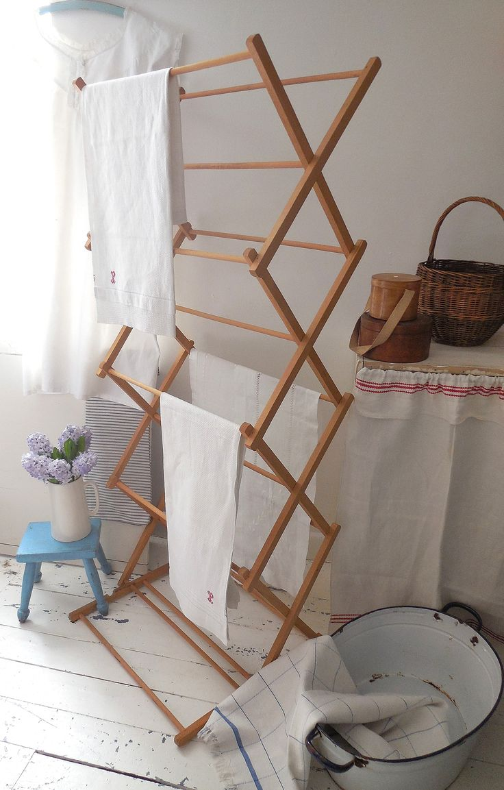 Vintage wooden washing airer just added to our website. Link to details: http://www.lavenderhousevintage.co.uk/ProductDetails.asp?ProductID=1659