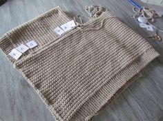 Je tricote un poncho facile !