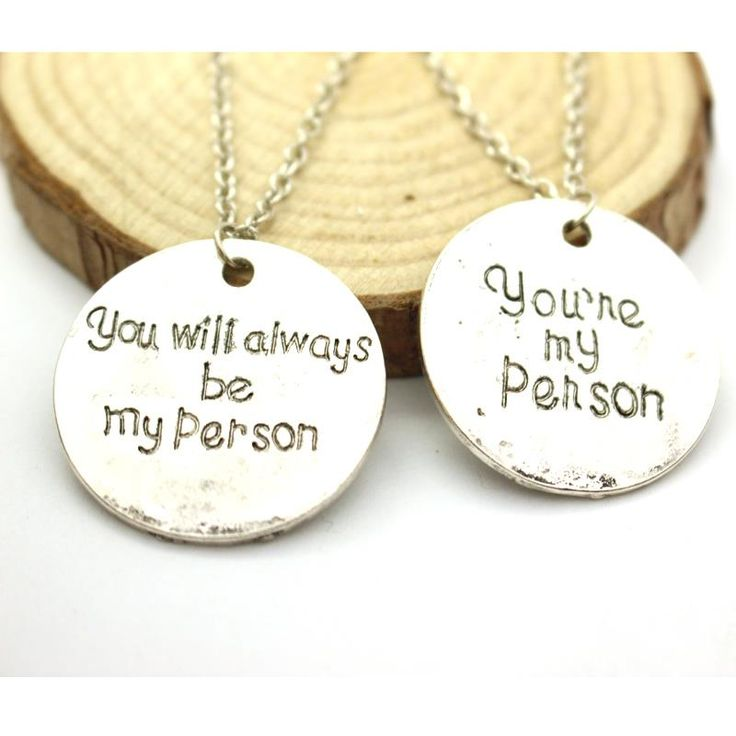 Free Shipping Grey Anatomy Necklace Hot Sales Letter You Are My Person, You Will Always Be My Person Pendant Necklace Wholesale