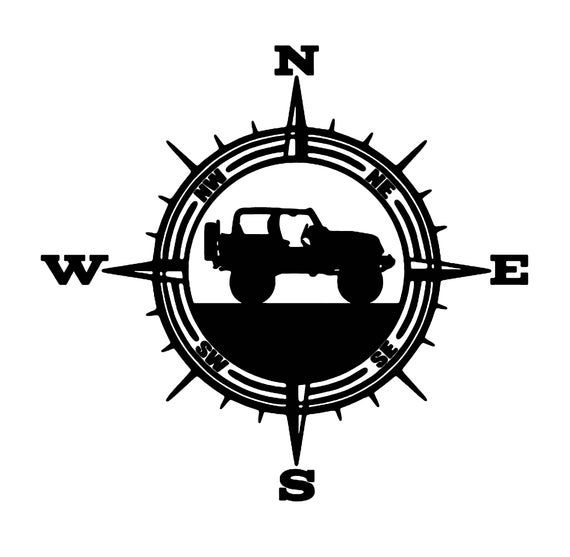 Vinyl Decal For Wranglers Car Decal Compass Decal Explorer Etsy