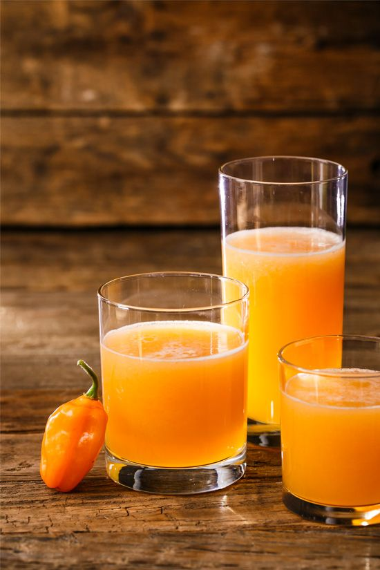 Fiery Cantaloupe & Habanero Agua Fresca Ingredients:      1 cup granulated sugar     1 habanero pepper, cut into pieces     1 1/2 pounds fresh cantaloupe (about 1/2 a melon)     2 tablespoons lime juice (from about 2 limes)