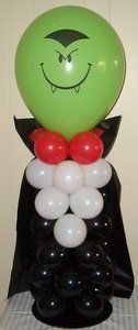 Decorate your school hallway with Dracula Balloons to advertise a movie night at school of Hotel Transylvania. - advertising an outdoor movie night at school tip by Southern Outdoor Cinema.