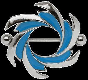 Piercing Schmuck Shop - Brustpiercing Schmuck Schild Sternschnuppe mit Titan Stab