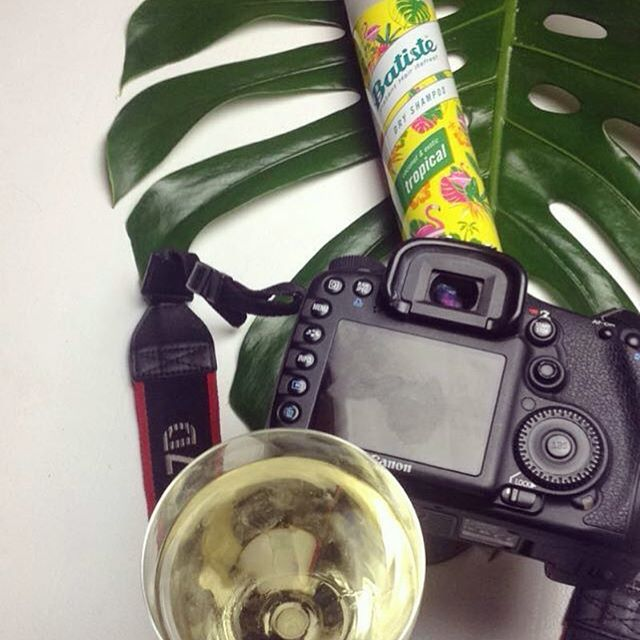 A good day at work ✨ #Batiste #canon and a glass of #whitewine