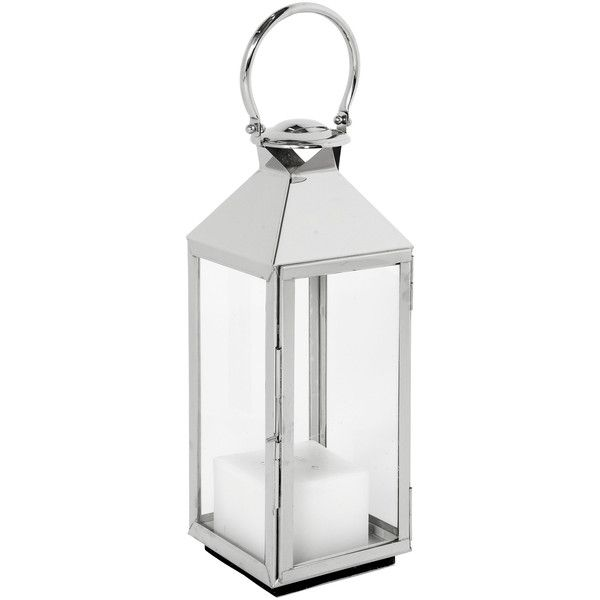 Alison Modern Classic Polished Silver Metal Candle Lantern 21H (695 SAR) ❤ liked on Polyvore featuring home, home decor, candles & candleholders, contemporary home decor, contemporary candles and contemporary home accessories