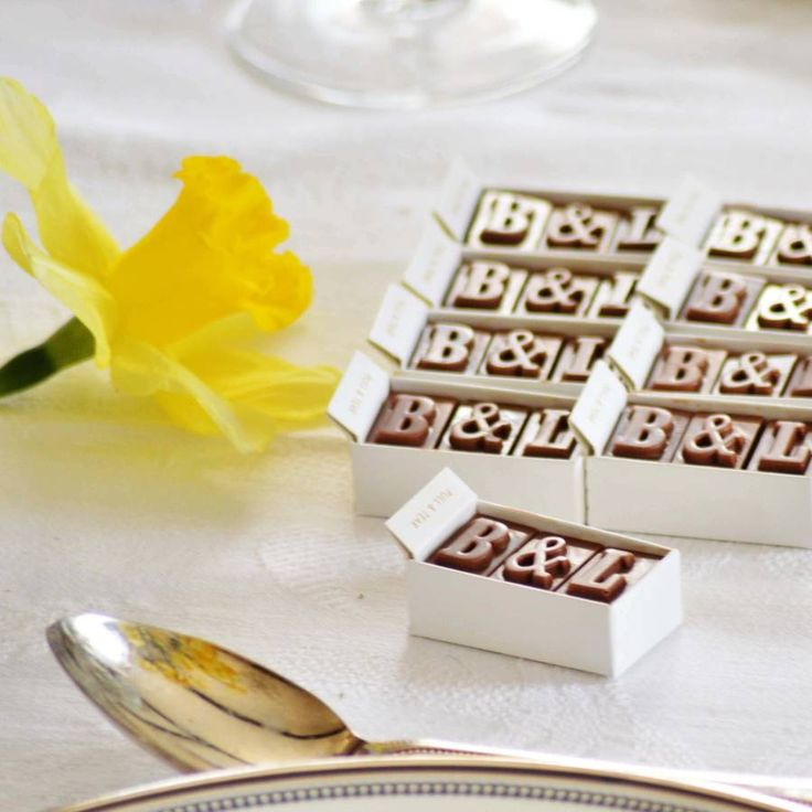 personalised chocolate wedding favours by morse toad | notonthehighstreet.com