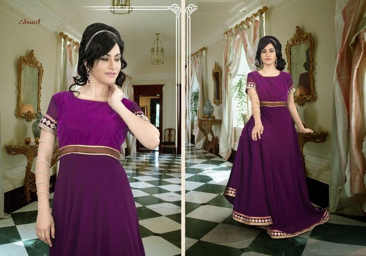 Trendy And Smart Casual Party Wear Purple Gown With Stylish Look PRG9170