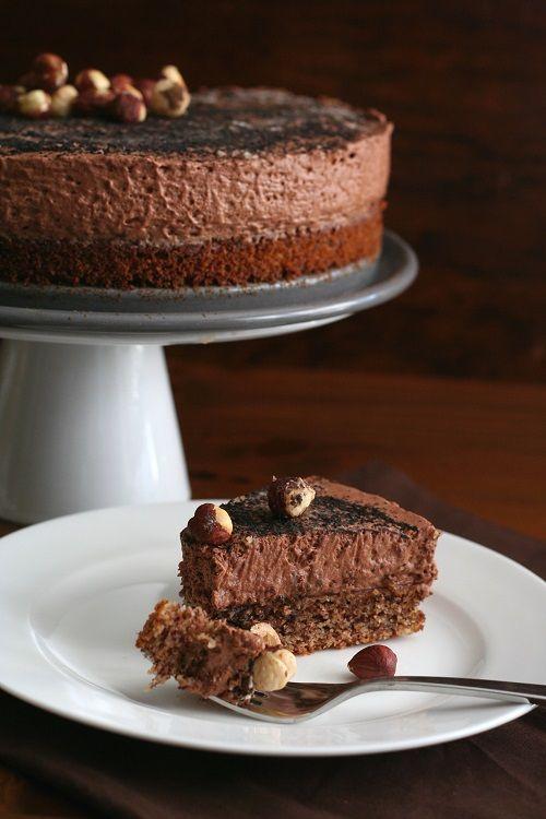 Low Carb Chocolate Hazelnut Mousse Cake Recipe