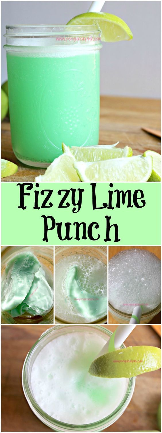 Fizzy Lime Punch - Kids (and adults) absolutely love Fizzy Lime Punch because it is sweet and tangy, fizzy and foamy. Oh and it's green making it total kid fun!