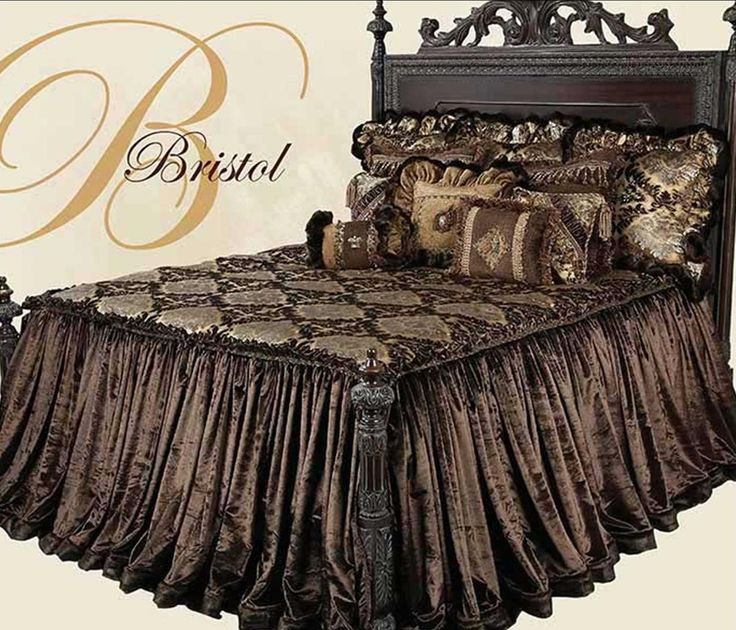collection bristol luxury bedding dark chocolate gold and crystal combined in velvets and chenille embellished fabrics for a luxurious