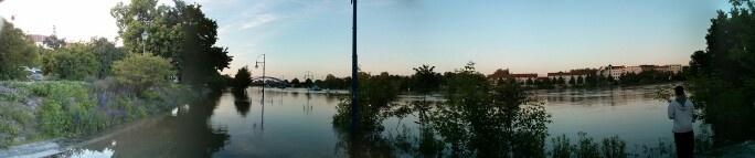 Hochwasser in Magdeburg #flooding #Elbe