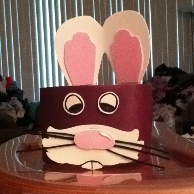 Home made boys Easter hat