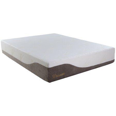 Best Master Furniture Dream Eastern King Memory Foam Mattress, Gray