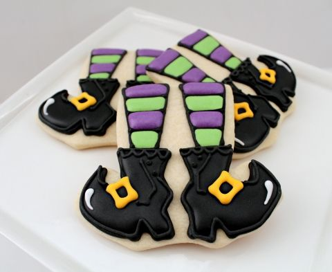 Witch leg cookies from a onesie or t-shirt cookie cutter
