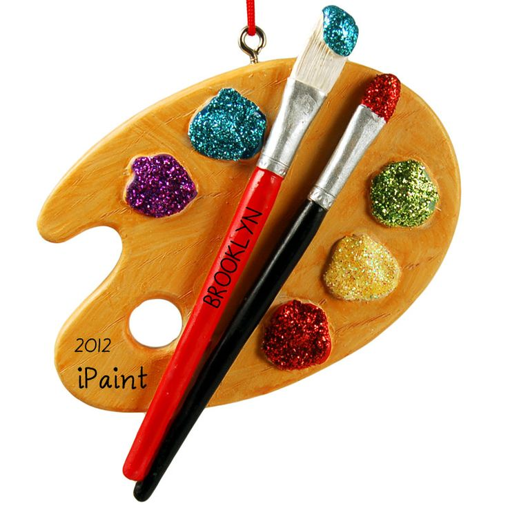 Personalized Wooden Paint Palette Painter Christmas
