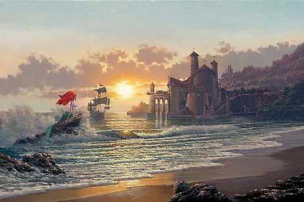 The Little Mermaid - Out of the Sea - Rodel Gonzalez - World-Wide-Art.com - $695.00 #Disney #RodelGonzalez
