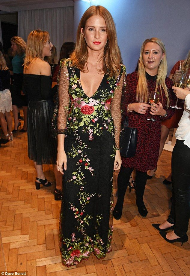 Pretty as a flower: on Thursday night Millie Mackintosh once-again showcased her sartorial sass at the Marie Claire Shapers Awards in London