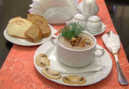 Суп-пюре из шампиньонов - Лучшие кулинарные рецепты супа-пюре из