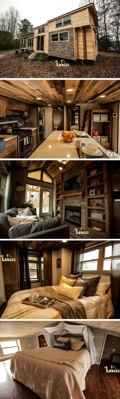 A custom-made little residence on wheels from Tiny Living Homes. This 310 sq feet residence has 2 loft spaces!