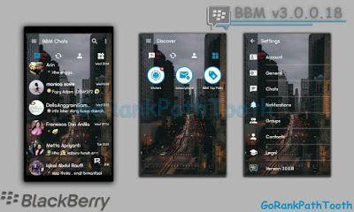 BBM Mod Transparan Versi 3.0.0.18 Apk Terbaru Untuk Android