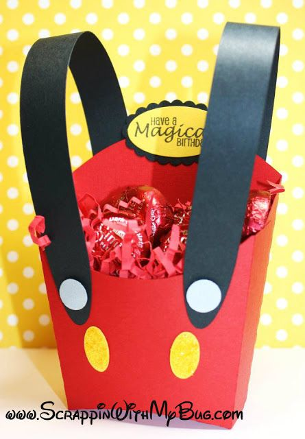 Scrappin with my bug: Mickey fry box