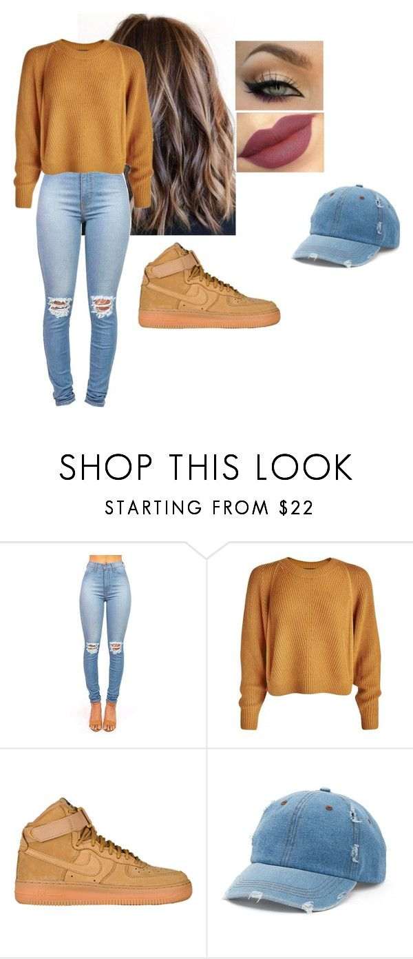 """fairytale."" by giselle760 ❤ liked on Polyvore featuring Nike air force and Mudd"
