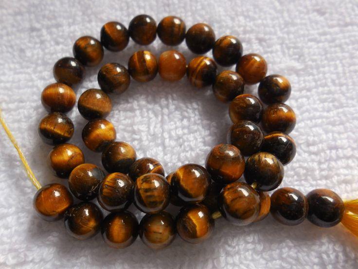 Natural Tiger Eye Gemstone Loose Beads,Tiger Eye 6MM Beads,Tiger Eye Smooth Roundel Beads,Tiger Eye Gemstone Beads, Round Beads by InternationalByBeads on Etsy