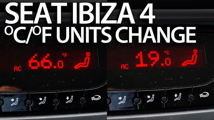 How to change #temperature units #Seat #Ibiza MK4 #Climatronic (Celsius Fahrenheit) #cars